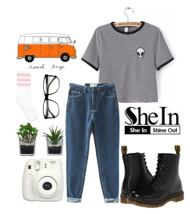 """""""Untitled #167"""" by chicclo on Polyvore featuring Dr. Martens and Threshold"""