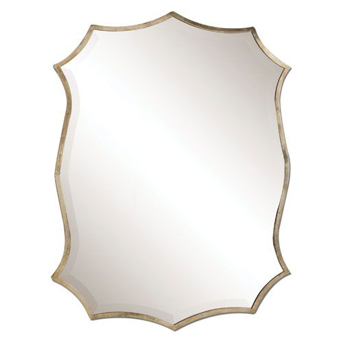 Migiana Oxidized Nickel Metal Framed Mirror Uttermost 23w x 30h for Jack and Jill Bath