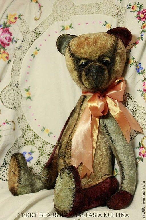 Купить Мишка Стефанни - винтажный стиль, Плюшевый мишка, мишка ручной работы, мишка тедди