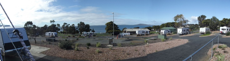 The view from my caravan at Port Lincoln Tourist Park, Kirton Point. http://greynomadtimes.com/wp-content/uploads/2012/06/KirtonPoint04.jpg