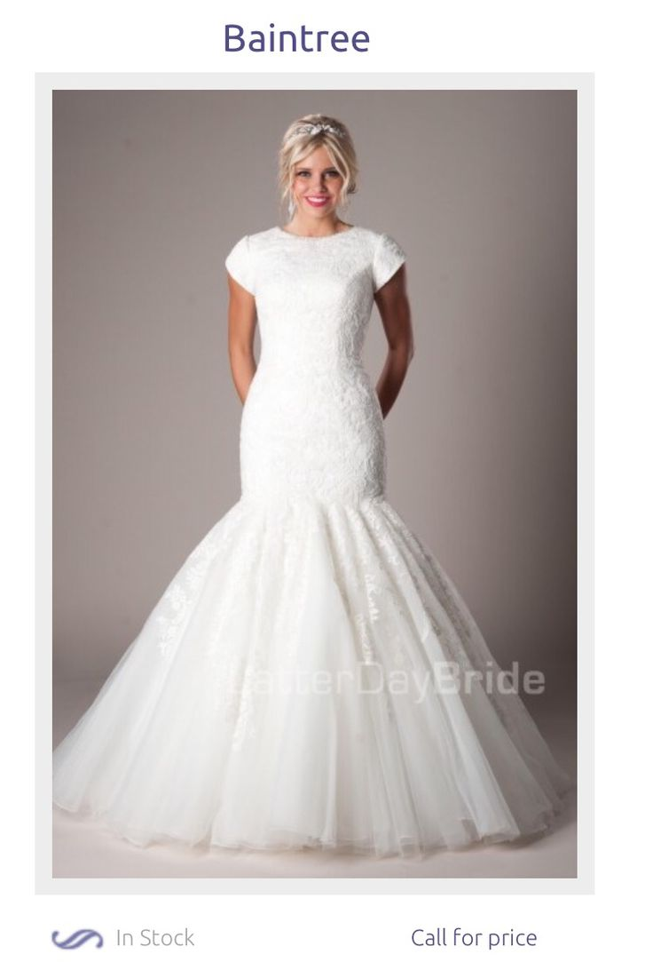 beautiful fit and flare wedding dress thanks to latter day bride #ldsbride #modest #mormon