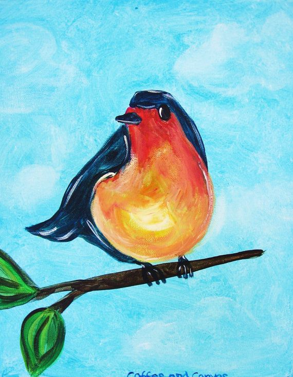 Blue Bird Tweet - $25 www.coffeeandcanvastn.com