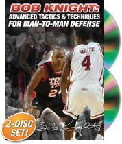 #Basketball DVD - Bob Knight: Advanced Tactics & Techniques for Man-to-Man Defense - Coach's Clipboard Basketball DVD Store