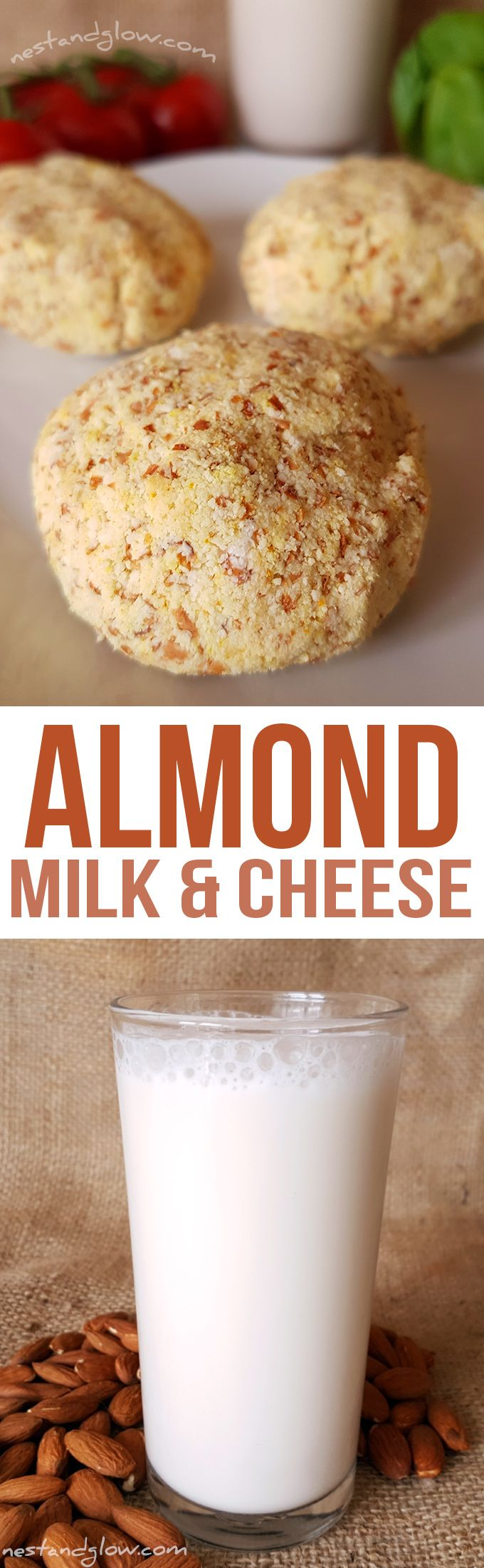 Almond Milk and Almond Pulp Cheese Recipes via @nestandglow