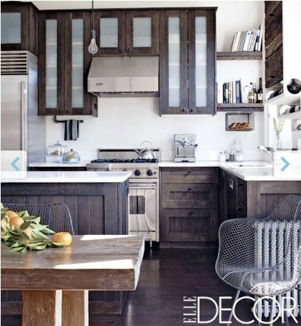 Rustic Chic Kitchen--cabinet color for island?