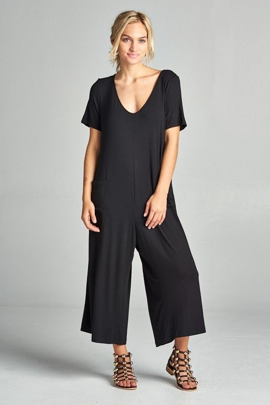 Loving People Short Sleeve Oversize Relaxed Fit Jumpsuit Playsuit Romper