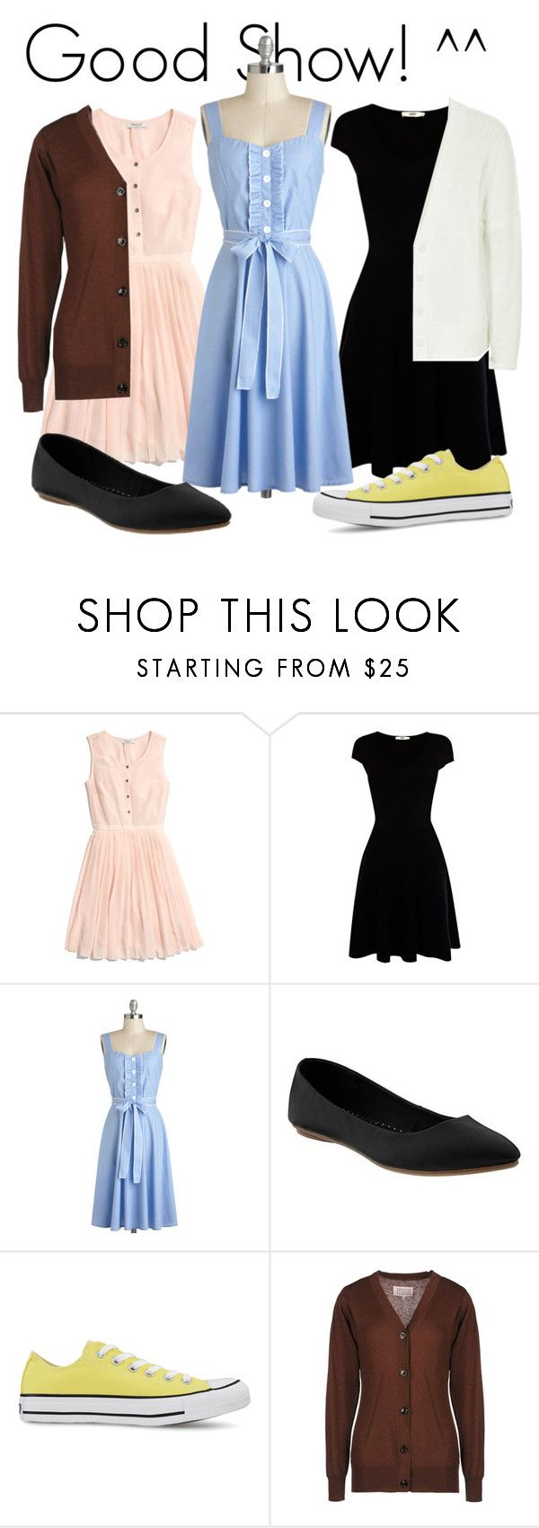 """Disneybound Challenge Wrap-up"" by totallytrue ❤ liked on Polyvore featuring Madewell, Oasis, Old Navy, Converse, Maison Margiela and Reiss"