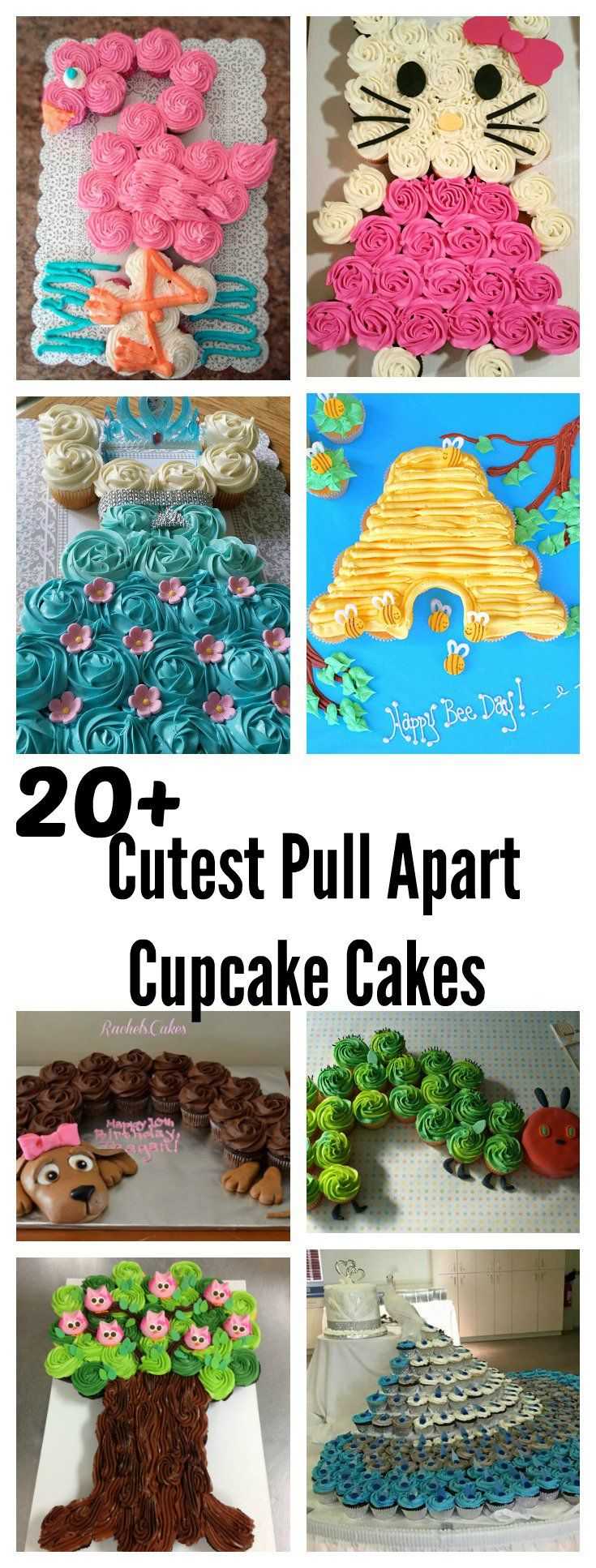 20  Cutest and Most Creative Pull Apart Cupcake Cakes m