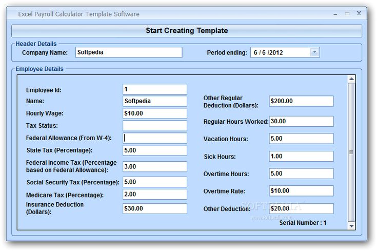 download excel templates for payroll - Google Search
