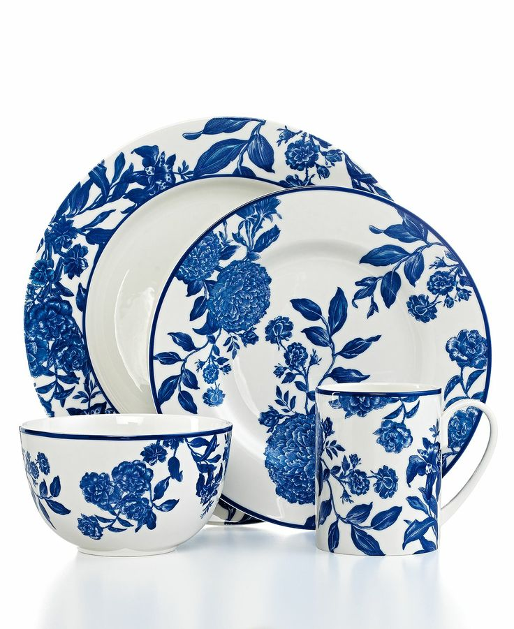 Martha Stewart Collection Orleans Cobalt Collection - Dinnerware - Dining \u0026 Entertaining - Macy\u0027s Bridal and Wedding Registry  sc 1 st  Pinterest & 392 best Dinnerware/Dish Sets images on Pinterest | Dinnerware sets ...