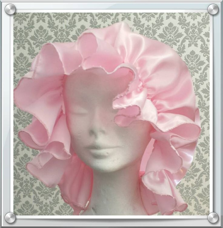 www.icklebaby.co.uk Adult Baby Mop Cap Hat Cosplay Sissy Maid Dress Pink Satin