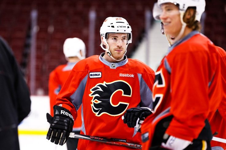 A snapshot from the Flames morning skate in Vancouver on Feb. 9, 2013. Photo by Clint Trahan.