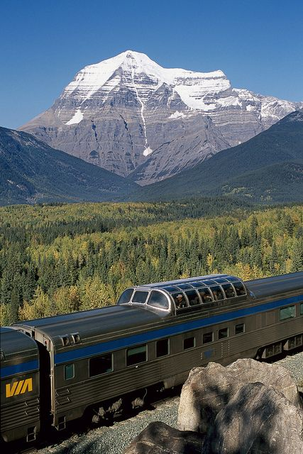 The Canadian - Travel Canada by train from coast to coast Doesn't have to be Canada, just want to travel by train someday and hear the clickity clack while going to sleep!