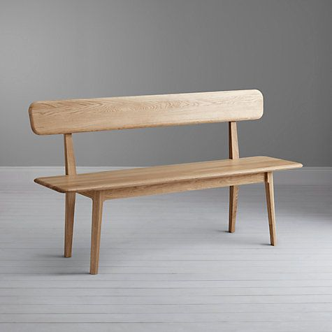 Buy John Lewis Harmony 3 Seater Dining Bench with Back Online at johnlewis.com