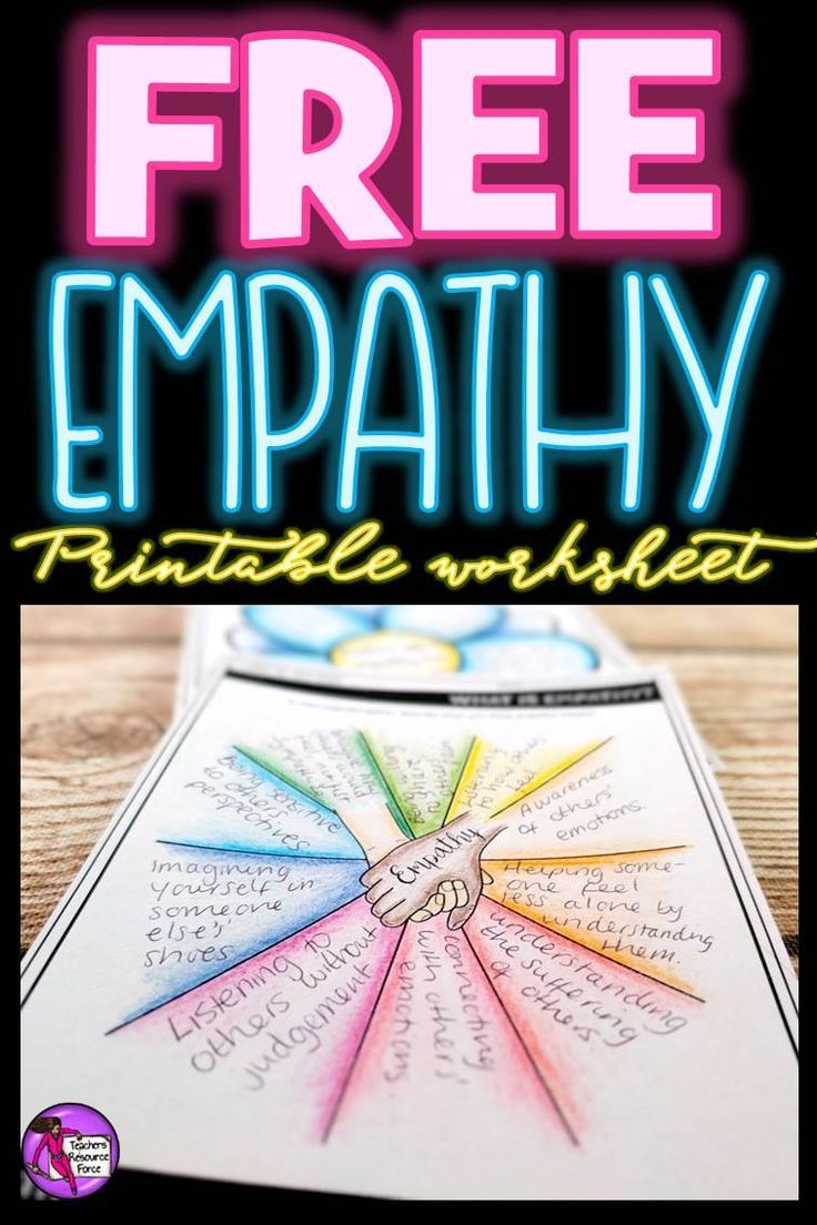 """Are you interested in being an inspirational teacher who helps your students develop good character and show empathy towards others? This empathy worksheet is a great starting point that you can introduce into your morning meeting routine! You can get this for free right now by clicking the """"visit site"""" button!"""