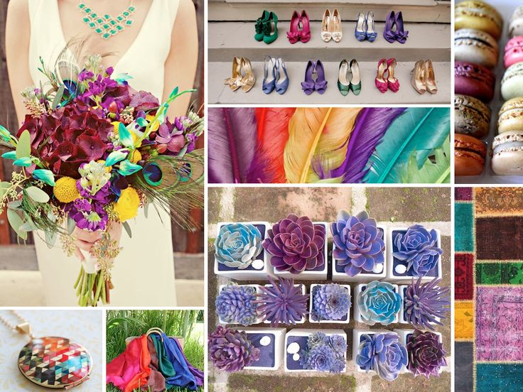 {jewel tones for the young at heart} bohemian jewel toned wedding