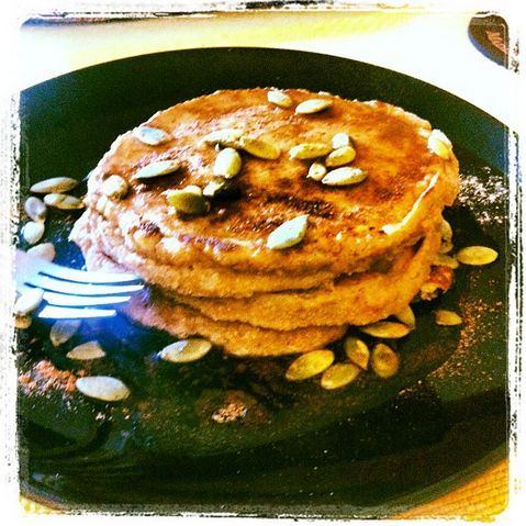 ... these Pumpkin Spice Protein Pancakes using IsaLean Natural Vanilla