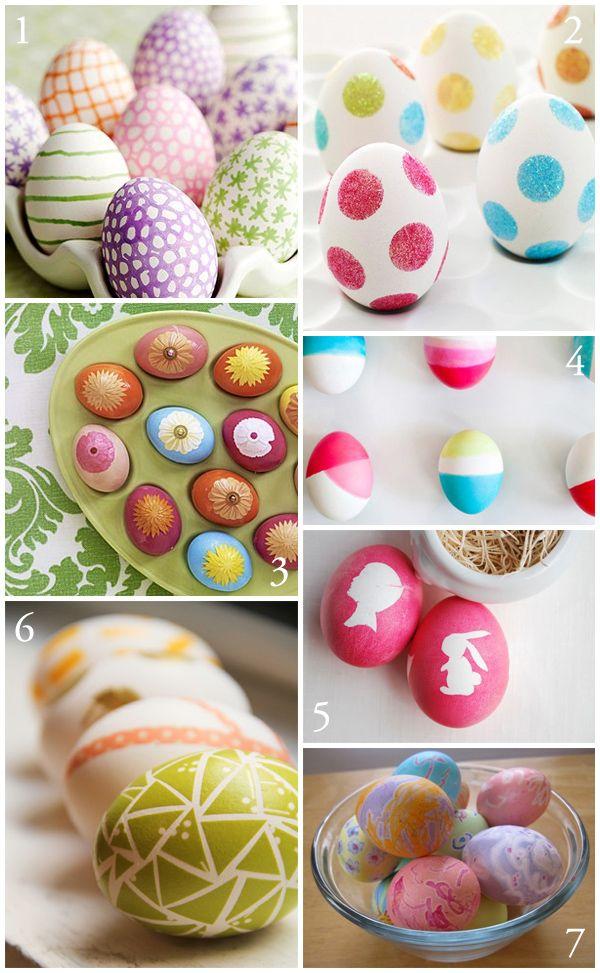 7 DIY Easter Egg Decorating Ideas