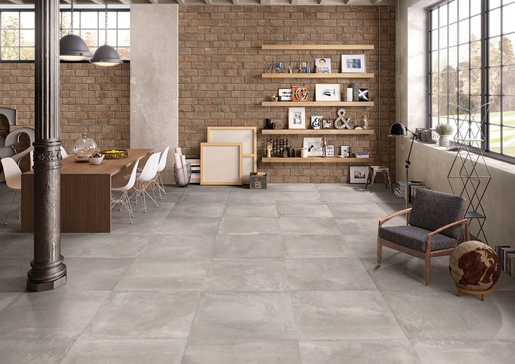Kotto Collection by Emilceramica  #emilgroup #emilceramica #tiles #ceramics #floortiles #interiordesign #madeinitaly #architecture #style #piastrelle #mattone #cenere  #contemporary #livingroom #home
