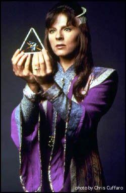 Babylon 5 - Delenn holding the tri-luminary that transformed her into part human.