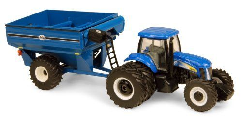 1:64 New HollAnd T8040 With Grain Cart by ERTL. $17.99. From the Manufacturer                The NH T8040 tractor has the power to pull the biggest loads of grain from the field to the grain bin. The die cast NH T8040 has dual rear tires to pull the load. The die cast grain cart has soft plastic tires and a pivoting unloading spout for the little farmers to imagine unloading the grain into the bins.                                    Product Description                The NH T80...