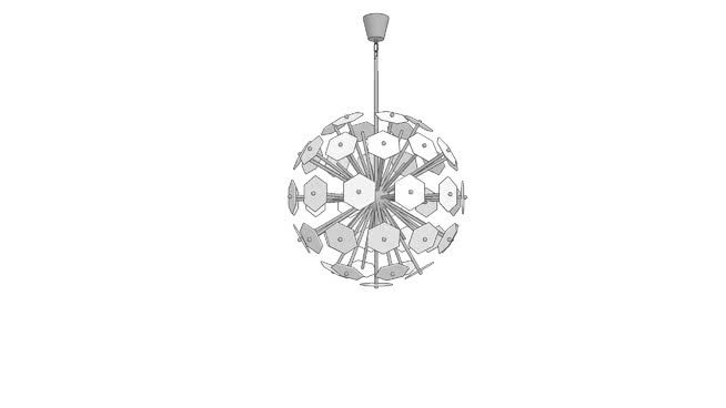 Robert Abbey JONATHAN ADLER VIENNA CHANDELIER   3D Warehouse