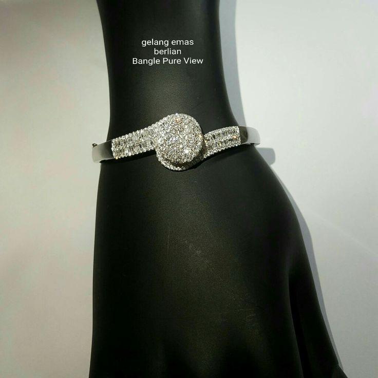 New Arrival🗼. Gelang Emas Berlian Bangle Pure View💎💍. 🏪Toko Perhiasan Emas Berlian-Ammad 📲+6282113309088/5C50359F Cp.Antrika👩. https://m.facebook.com/home.php #investasi#diomond#gold#beauty#fashion#elegant#musthave#tokoperhiasanemasberlian