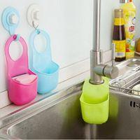 3 unids/lote multifuncional escurridor fregadero de la cocina colgantes de almacenamiento cesta de drenaje baño estante de envío gratis