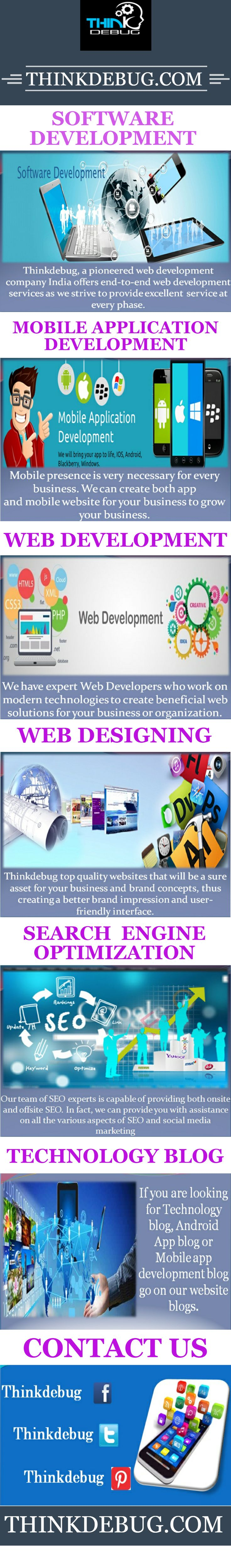 Web designing is the major service for #Thinkdebug IT Solution. We are the top #web_design company in India. #We_design the greater websites for our customers. This web design can help business owners for improving their business deals. By providing the rich web designs and good graphic #designs Thinkdebug IT Solution satisfy our customers and end users. We have experts and highly experienced professional web designers and developers,  More visit: http://thinkdebug.com