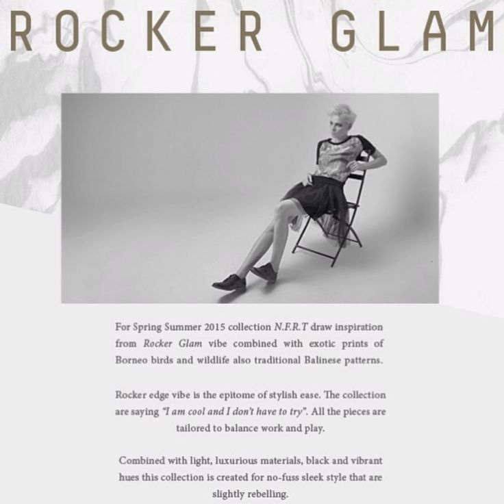 Inspiration for S/S 2015. Rocker Glam collection now available online.