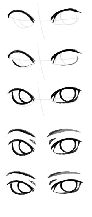 sirblizzard:  How to draw 'the other eye'. Because people keep complaining. The answer? You don't draw a whole eye first. You do it part by part, then make adjustments and add details as you please.  If you draw the whole eye first you'll just stress over making the other eye as similar as possible. This way it's also easier to adjust and correct. Aside from that last step with the 'transform' tool, this also applies for traditional art. Hope this helps!