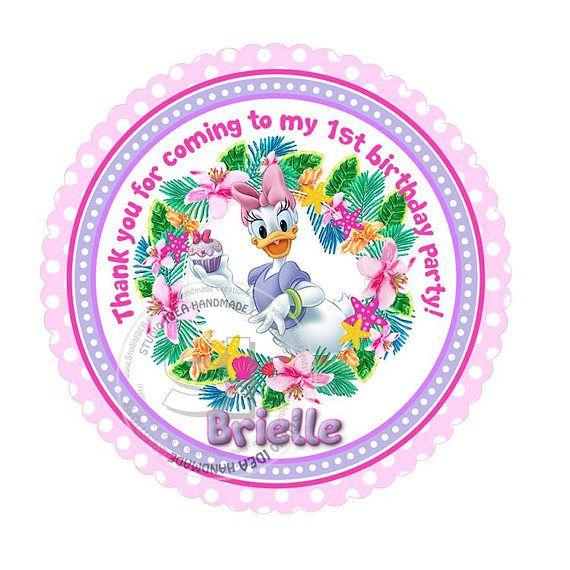 Custom Stickers Daisy Duck 2.5 STICKERS-Purple-Pink