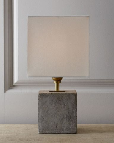 Concrete Cube Mini Lamp