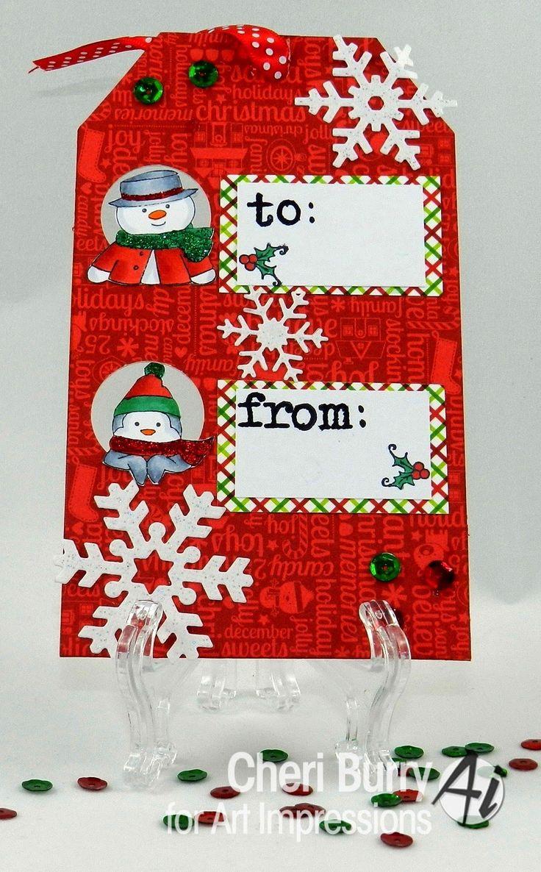 Scrapbook ideas christmas card - Art Impressions Rubber Stamps Handmade Christmas Cardschristmas Ideaswatercolor Christmasmy Ebayscrapbook