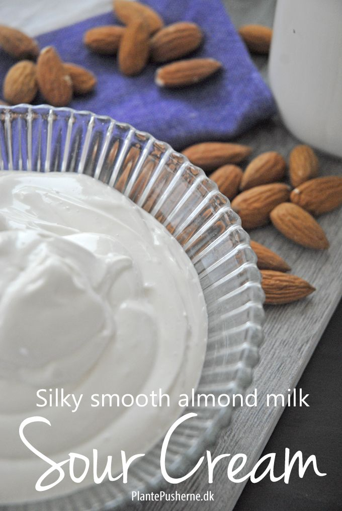 Velvety smooth dairy free, soy free, vegan sour cream like you've never seen it before. Made from almond MILK. Simple ingredients and NO NEED for a high speed blender.