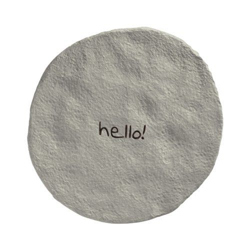 "Grasslands Road Positive Steps ""Hello!"" Stepping Stone by Grasslands Road. Save 1 Off!. $15.81. See all 13 matching Positive Steps stepping stones by Grasslands Road, create a path with multiple stones. Cement resin mix. Indoor/outdoor use. Corrugated box. Grasslands Road Positive Steps ""Hello!"" Stepping Stone"