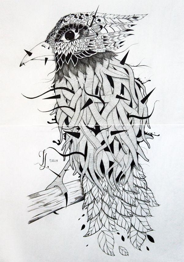 Ave Cautiva by Jon Lozano, via Behance