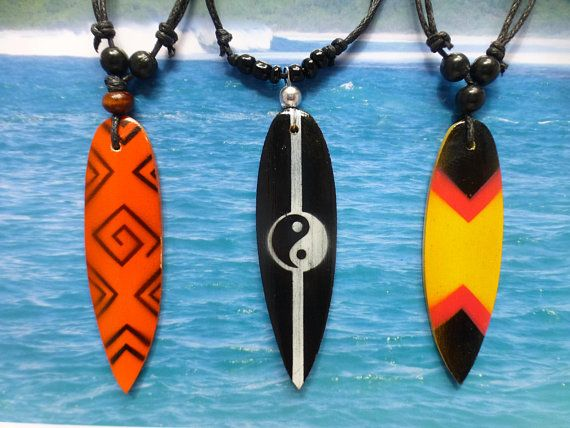 Surfboard Necklace Beach Jewellery Made Near Woolacombe Beach