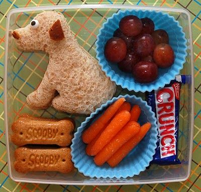 Would you wolf, woof or chow down?Kids Lunches, Cute Ideas, Schools Lunches, Scooby Snacks, Lunches Boxes, Lunches Ideas, Cookies Cutters, School Lunches, Scooby Doo