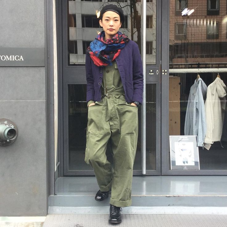 anatomica_tokyoToday's style. Jacket:anatomica#dolman Inner:#military  Shoes:anatomica#Alden Beret:#mlitary  Scarf:#lanvin