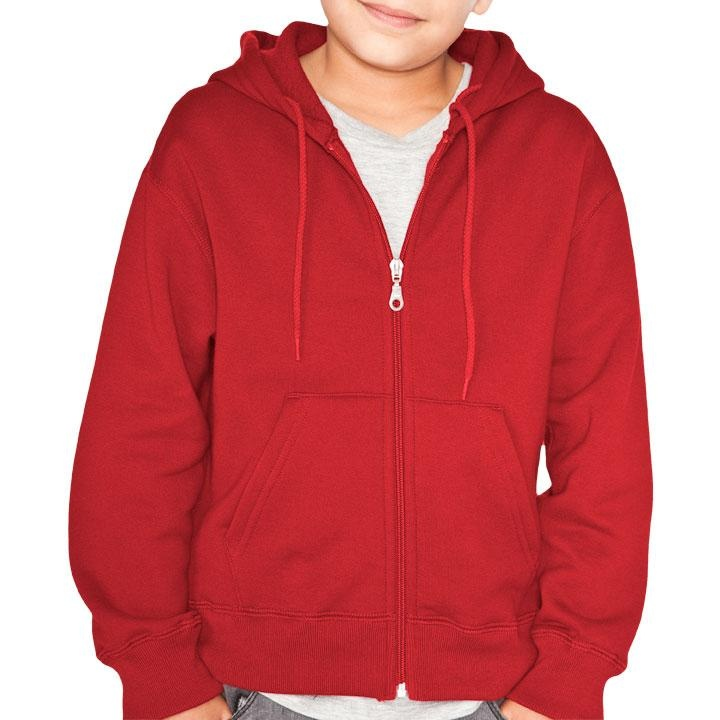 Youth Full Zip Hoody - available in black, navy, grey, red and green (Y)