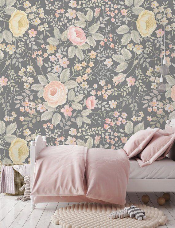 Removable Wallpaper Self Adhesive Wallpaper Nursery Vintage Etsy Removable Wallpaper Nursery Wallpaper Wall Art Wallpaper