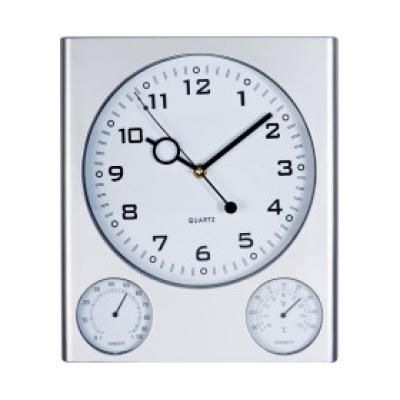 Image of Promotional Trio Wall Clock. Printed Rectangular Wall Clock