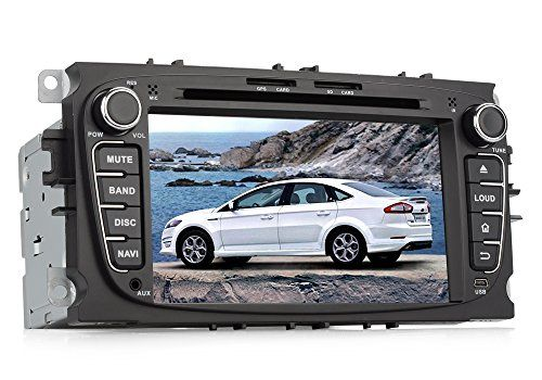 7 pulgadas de pantalla táctil Ford coches reproductor de DVD – Soporte Bluetooth, 2DIN, Android 4.4, Quad Core CPU, GPS, 3G, Wi-Fi