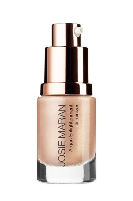 For those looking for something on the natural-looking side of the spectrum, Josie Maran's liquid highlighter is perfect. The slightly shimmery, golden finish makes skin glow, whether dabbed over or under foundation — or mixed into moisturizer or makeup.Josie Maran Argan Enlightenment Illuminizer, $26, available at Sephora. #refinery29 http://www.refinery29.com/highlighter-skin-tone#slide-10
