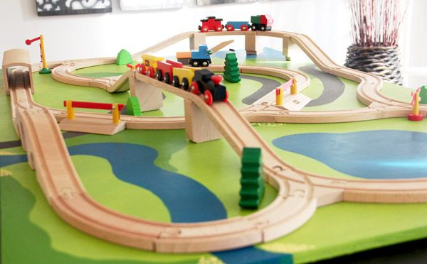 Table For 6 Year Old: Ethan's Christmas Wish: A (DIY) Train Board -