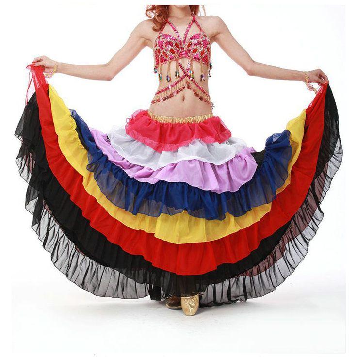 2015 высокое качество женщин цыганская юбка египетский бальные танец живота юбки длинные в продаже