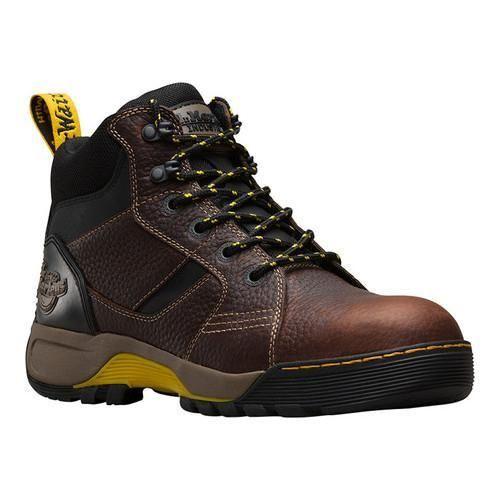 Dr. Martens Grapple 6-Tie Steel Toe Boot Teak/ Industrial Bear
