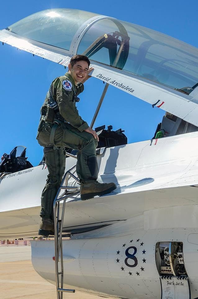 """David Archuleta flew """"Sky High"""" today (6-24-16) with the AF Thunderbirds, Hill Air Force Base, Utah!"""