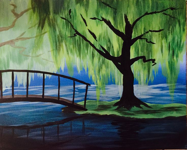 Easy Acrylic Paintings Of Trees